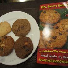購入したクッキーとパンフレット