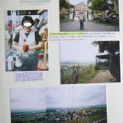 """ラインガウ:""""ワインの使者""""の騎馬像が立つヨハネスベルグ城にはブドウ畑とライン川を見下ろすテラスレストランがある"""