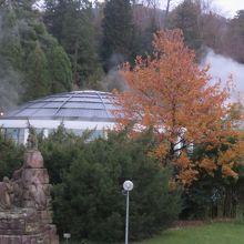 メインのドーム型の建物・ホテルからの眺め