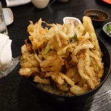 白えびのかき揚げ丼1000円