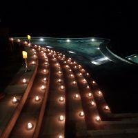 夜には無数のキャンドルが!とてもロマンティック!