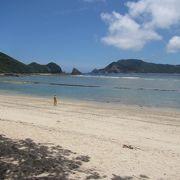 奄美大島南部の静かなビーチ