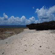 潮の満ち引きが大きい海岸
