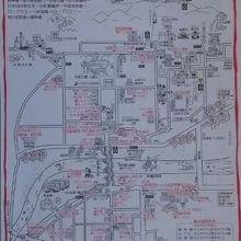もらった街歩き地図