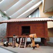 豊島郡衙の正倉(象徴展示) 北区飛鳥山博物館