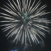 丘公園から花火を眺めた