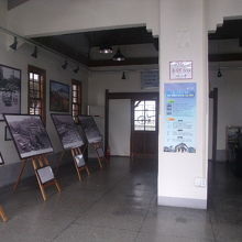 旧駅舎内部の様子