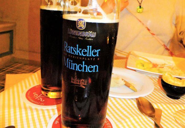 レーベンブロイのデュンケルビール。