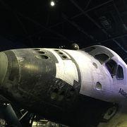 スペースシャトル展示