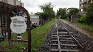 北海道初の線路跡、いまは遊歩道や催し会場に