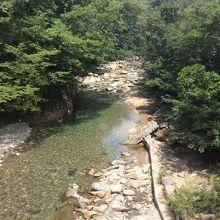 上下線連絡通路の河川