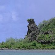 ゴジラ岩といいますが