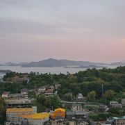 瀬戸内海と夕日のコラボが素敵♪