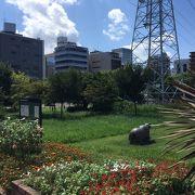 ビジネス街の憩いの公園