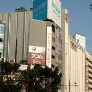JR岡山駅から地下道で行けます