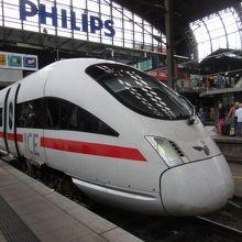 コペンハーゲンからハンブルグに着いたICE38