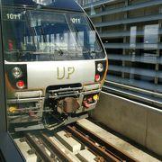 空港からユニオンまでの快速電車