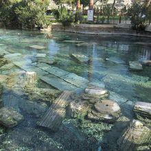 古代遺跡の沈んだ温泉です