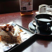 すごく美味しかった栗タルト(980円)とコーヒー(700円)