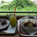 景色を楽しむカフェ