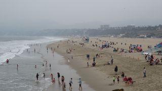 大きな砂浜でした。