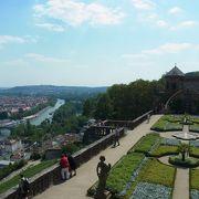 要塞から眺める、マイン川、ヴュルツブルクの街並み