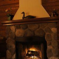 お部屋の暖炉。
