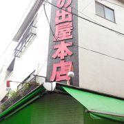 昭和レトロ感満載の商店街