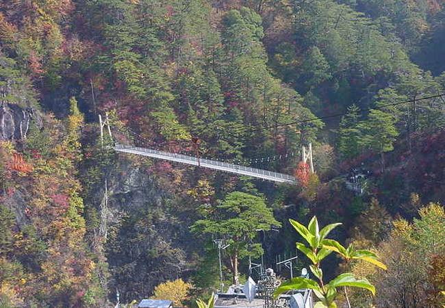 迫力満点の吊り橋です