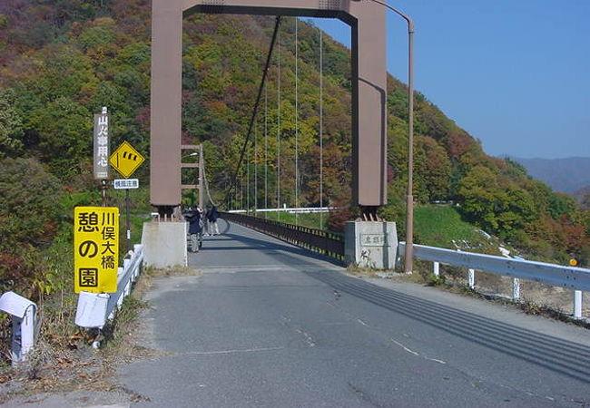橋の上から見学している人が多いです