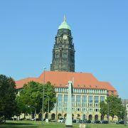 ドレスデンの街の目立つ塔