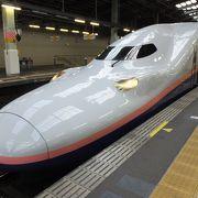 朝一番6:05の新幹線で会社へ直行。全席自由席です。