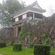 2つの櫓と石垣が残る