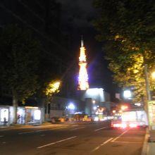テレビ塔の夜景もみえる