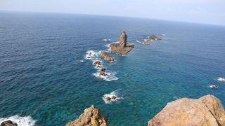 積丹ブルーの水がきれいな岬