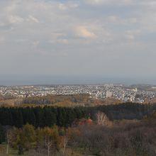 天都山展望台からの眺め