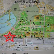 東京観光情報センターの場所を記した地図です。京成上野駅内です