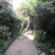 足摺岬の灯台を巡る山の中の遊歩道の中に弘法大師様の奇跡、軌跡