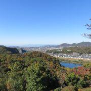 展望台からの木曽川周辺の眺めがみごと