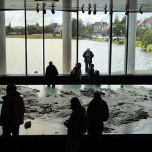 市庁舎内にあるアイスランドの地形模型