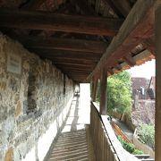 城壁の上を歩きました!