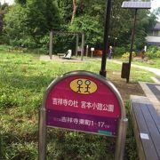 吉祥寺の街中に近い緑豊かな公園