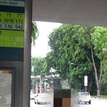 「パンパシフィックホテル」バス停