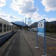 三厩駅と列車