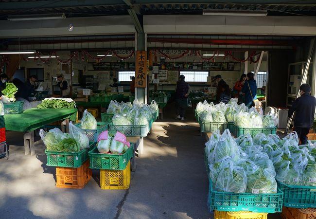 地元の農家が持ち寄った農産物を販売する施設
