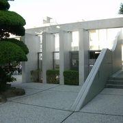 中也の生家跡に建立された記念館