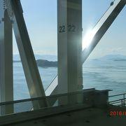 瀬戸大橋の眺めが良かった
