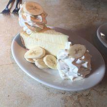 バナナのチーズケーキ