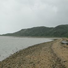 東側の海岸。