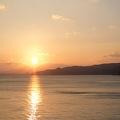 別府湾から昇る日の出が見られます
